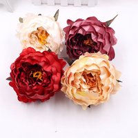 Wholesale peony clip flowers for sale - 1pcs cm high quality artificial peony flower head wedding home party decorations handmade flowers DIY clip real touch