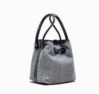 Wholesale design cloth handbags for sale - Group buy Designer Handbag Autumn and Winter Design Cloth Drawstring Button Bucket Bags Thousand Bird Pattern Simple Lamb Hair Bag Shoulder Bags