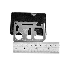 açık kart bıçağı toptan satış-11 1 Çok Araçları Avcılık Kamp Survival Pocket Knife Kredi Kartı Bıçak Paslanmaz Çelik Açık Havada Dişli EDC Araçları aa49-56 2018010607