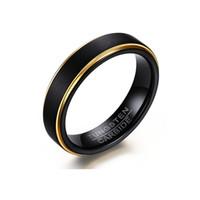 ringbürsten großhandel-Heißer verkauf titanium edelstahl mode 5mm wolfram stahl gebürstet ring für männer schmuck paare zirkonia hochzeit ringe bague femme