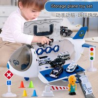 Wholesale toy plane sets for sale - Group buy Large aircraft music sound track toy car srorage plane passenger model educational big space airplane cars toy sets Y200428