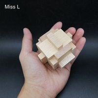 Wholesale geometric learning toys for sale - Group buy Kong Ming Lock Wooden Geometric Shape Montessori Cage Puzzle For Kid Toys School Learning Educational Game