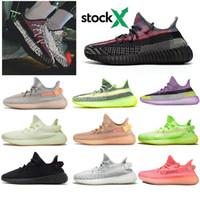 zapatillas de deporte de la mejor calidad al por mayor-2020 zapatos corrientes de la mejor calidad Kanye YECHEIL Yeehu Negro estático 3M reflectante para hombre de la nube verdadera Forma Bred formadoras Sport zapatillas de deporte