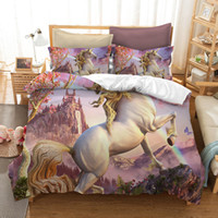 Wholesale black full beds online - Unicorn D Comforter Bedding Set Fortnite Duvet Covers Home Textile Printed Cartoon Fortnite Pattern Super Twin Full Queen King Size