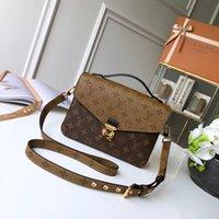 vintage perle handtaschen großhandel-Herald Mode Qualität Frauen Leder Handtasche Vintage frauen Perle griff Klappe Weibliche Umhängetaschen Kausal Dame Crossbody Tasche