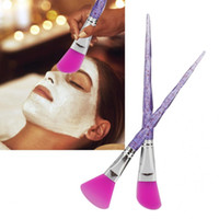 Wholesale skin mask silicone for sale - Group buy Professional Colors DIY Mask Brushes Set Soft Silicone Head Face Mask Brush DIY Skin Care Brushes