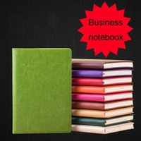 cadernos escola bonito venda por atacado-A5 Couro Kawaii escritório de negócio Notebook bonito Memo Log Weekly Plano Diário de Bordo Revista Stationery Escola personalizado