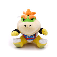 koopa kid plüsch großhandel-Super Mario Brothers Bowser Koopa JR Plüsch-Puppe spielt 6.3inch 16CM Plüsch-Kinder Neue Brüder Bowser JR weiches Plüsch-Spielzeug Best Kids Geschenk L386
