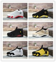 Wholesale good soccer training resale online - 2019 New Arrive XIV DMP Champion Black Gold Gray Men Basketball Boots Shoes For Good Quality Sports Training Athletic Sneakers Size