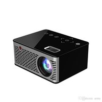 hd video iletim toptan satış-Mini Mikro LED Sinema Taşınabilir Video HD Ev Sineması için USB HDMI Projektör Kısa Odak Tasarım T200 Iletim Ekranı LED Video Projektör