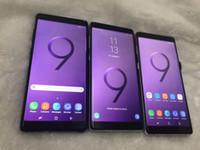 goofon oktak çekirdeği toptan satış-DHL Kargo Ücretsiz Goophone Not 9 S9 + Unlocked cep telefonu Android 6.0 1G Ram 4G Rom 5.5 inç Gösterisi Octa çekirdek 64 GB ROM 4G LTE smartphone