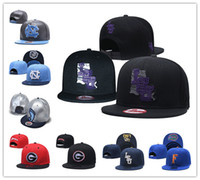 gorras ncaa gorras al por mayor-Talones NCAA LSU Tigers Florida Gators North Carolina Tar bordado ajustable del sombrero del Snapback bordada negro cosido de azul gorras