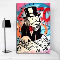 nackter kunstmann großhandel-Monopolyingly Man Minimalist Canvas Poster Prints Wandkunst Malerei Dekoratives Bild Moderne Dekoration Zubehör Kunstwerk
