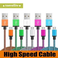 Wholesale best iphone charger cable for sale - Group buy 3FT FT FT Braided Copper Micro USB TYPE C Charger Sync Data Cable Cord For Samsung S8 S6 S7 LG HTC Huawei Best seller