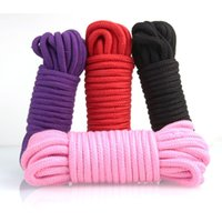 Wholesale rope restraints games resale online - 10 Meters Long Thick Strong Cotton Rope Fetish Sex Restraint Bondage Ropes Harness Flirting SM Adult Game Sex Toys for Couples