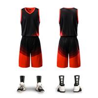 ingrosso 5xl uomini personalizzare pallacanestro jersey-Le nuove maglie da basket set Gli uomini vuoti jersey di formazione di tasche tute traspiranti divise da basket squadra adulta personalizzati 002