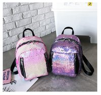 Wholesale lip types for sale - Women Bling Sequins Backpack Fashion Solid School Bags For Teenager Girls Casual Preppy Style Lips Fashion Female Backpacks MMA1320