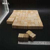 bildung pc spiele großhandel-Holzfarbe 100 Stück 2 cm Kiefer Holzwürfel Spiel Gadget Rätsel Common Sense Education Toys