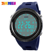 Wholesale big round christmas lights for sale - Group buy SKMEI Outdoor Soprt Digital Wristwatches Big Dial Military Watches for Men M Water Resistant EL Light Electronic Watch Relogio