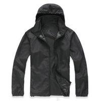 Wholesale anti uv jacket online - Unisex Rain Jacket Outdoor Casual Hoodies Windproof Waterproof Sunscreen Face hooded Coats Skin Anti UV Raincoats colors GGA1587