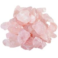 quarz rose reiki großhandel-200g natürliche rohe rosafarbene Rosenquarzkristall-raue Steinprobe für das Taumeln, Polieren, Wicca Reiki Kristallheilung