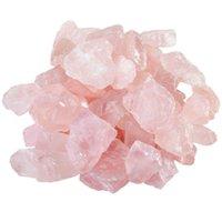 quartz rosa reiki venda por atacado-200g Natural Raw Rosa de Quartzo Rosa de Cristal De Pedra Áspera Espécime para Caindo, Polimento, Wicca Reiki Cristal de Cura
