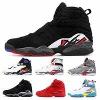 retros 13 toptan satış-2019 Basketbol Ayakkabı Erkekler Sneakers 8 s Sevgililer Günü Aqua Geri Sayım Paketi 8 Erkek retro retros Eğitmenler Tasarımcı Spor Sneakers Adam Boyutu 7-13