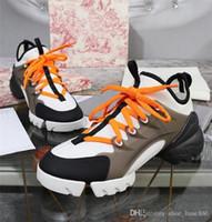 ledersocken für frauen großhandel-21 Socken D CONNECT Floral Sneakers, Designer-Wickelgummi, Triple Leather Women Mesh Dad Trainer-Schuhe