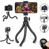 drahtlose kamera für handy großhandel-Handy-Stativ, flexibles Handy-Stativ, verstellbarer Kamerastativhalter mit drahtloser Fernbedienung und Universal-Clip 360 ° R