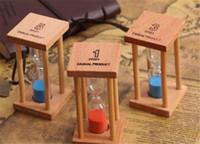 ingrosso sabbia per la decorazione-1/3 / 5Min Decorazione della casa in legno Desktop Sand Clock Timers Sand Sandglass Clessidra Clessidra Orologio Home Decor Gift Kitche