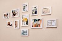 fotos para a parede da sala de estar venda por atacado-Nova Decoração 11 Pcs Wall Hanging Photo Frame Set Para Corredor Quarto Sala de estar Decoração de Parede Arte Moderna Home Decor Família Imagem de Exibição