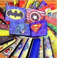 vingadores crianças venda por atacado-Carteiras de Super-heróis dos desenhos animados 230 estilos Marvels Carteiras Titulares do Cartão da carteira do Homem Aranha Os Vingadores Carteiras Bolsas Presente para As Crianças