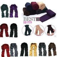 Wholesale womens fitness clothing online - New Womens Girls Warm Knitted Cable Leggings Solid Stretchy Fitness Over Heels Pantynose Spring Autumn Pants Slim Leg home clothing T1I1107