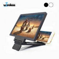 киноэкраны оптовых-Экранная лупа 3D усилитель кино 3x зум увеличенный телефон стенд экран видео усилитель излучения глаз стол лупа