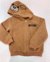 kleinkind jungen fleece großhandel-Kinder-Jacken-Winter-warmer Fleece-Kapuzen Teddybär Mantel Windjacke Baby Boy Kinder Jacke Kleinkind Oberbekleidung Kleidung
