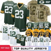 d63e5838e Wholesale aaron rodgers jerseys for sale - Group buy Top Jaire Alexander Aaron  Rodgers Green Bays