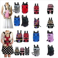 Wholesale cloth dog carriers for sale - Group buy Pet bag Dog Backpack Front Chest portable Cloth Backpack Carriers with Buttons Outdoor Travel Durable Shoulder Bag For Dogs Cats YZ131