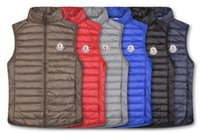 federbekleidung jacke großhandel-Klassische Männer Winter bekleiden unten Feder weskit Jacken Mens beiläufige Westen Mantel Oberbekleidung MaennerjackenMONCLERF34D
