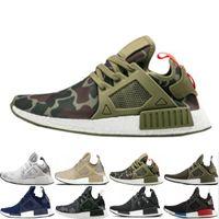 chaussures rayées bleues achat en gros de-Nouveau NMD XR1 Chaussures de course OG Zebra Mastermind Japan rayé-noir Vert olive Noir Blanc marine camo hommes femmes chaussures de sport 36-45