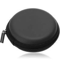 mini runde geldbörsen taschen großhandel-Geldbörse Für USB Kabel Kopfhörer Fall Brieftaschen Tragbare Mini Runde Hard Storage Tasche für Kopfhörer SD TF Karten # L3 $