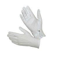 gants blancs garçons achat en gros de-Vêtements Accessoires Coton Femmes Hommes Blanc Gants de cérémonie Girsl Garçons Gants de protection en coton 1 paire de haute qualité