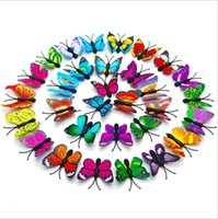 Wholesale bathroom art stickers resale online - 70pcs d PVC CM Simulation Butterfly Wall Wedding Home Party Decorative Diy Stickers Art Decals TV Fridge Kids Toys Multicolor