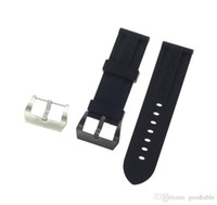Wholesale panerai watch band strap 22mm online - Watch Bands Straps mm mm Mens Diver Silicone Rubber Soprt Watch Band Strap Screw in Silver Buckle Relojes Hombre