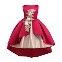 oi, vestidos venda por atacado-Meninas vestido de princesa vestido de baile vestido de festa de casamento da dama de honra pageant formal do baile de finalistas do aniversário para crianças ljjw35