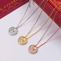 новые стили для ожерелья оптовых-Новый стиль из нержавеющей стали простой золотой цвет любовь ожерелье двойной подвески горный хрусталь колье ожерелье женщины ювелирные изделия