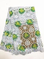 vestido popular para la fiesta al por mayor-(9colors) j130 ¡Tela de encaje guipur africana vendedora caliente blanca y verde, la mayoría de la tela de encaje de cordón bordado popular para vestido de fiesta!