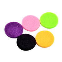Wholesale locket pieces resale online - Colorful Flat Pads for Perfume Locket Diffuser Jewelry piece