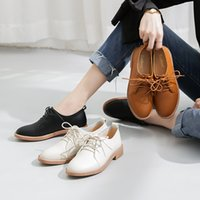 Wholesale nursing shoes summer resale online - 2019 Women Shoes Female Moccasin Oxfords Women s Round Toe British Style Casual Sneaker Dress Genuine Leather Summer Nurse