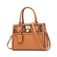 shouler handtaschen groihandel-2020 Schlange-Muster PU-Leder-Tragetasche Bolso Mujer Umhängetasche Tasche für Frauen Luxus-Handtaschen-Frauen-Entwerfer-Messenger Bag Shouler