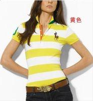 hacer camisetas personalizadas gratis al por mayor-Ralph Lauren las mujeres Polos polos diseñador de la marca de moda estadounidense de alta calidad del algodón de polo femme verano Las camisas de lujo por encargo el envío libre